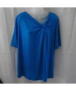 New Ellen Tracy short-sleeved large cobalt blue... - $15.00