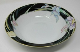 "Mikasa L9050 Charisma Black 9.5"" Serving Bowl White & Black Floral Design - $21.84"