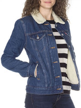 Levis Sherpa Trucker Women's Jacket All Sizes COLOR DARK BLUE - $68.00