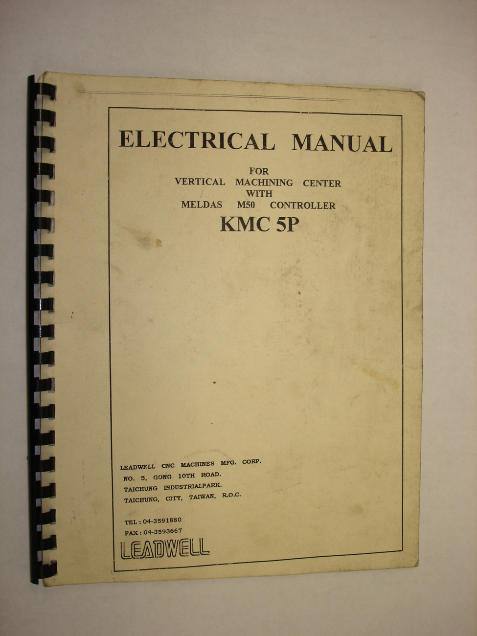 Leadwell KMC-5P Electrical Manual