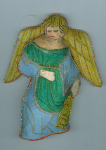 Angel Lantern Embroidered Fabric Christmas Ornament - $5.59