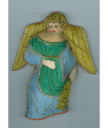 Angel Lantern Embroidered Fabric Christmas Ornament - $6.99