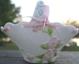 Vintage 1985 Lefton China Petite Porcelain Basket Twm 05165 - $34.99
