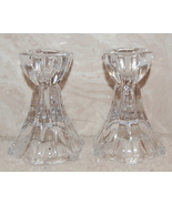 Mikasa Linear Candleholders Pair Crystal 3.5 in... - $20.00