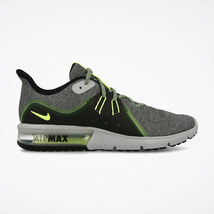 MEN'S NIKE AIR MAX SEQUENT 3 SHOES grey black volt glow 921694 007 MSRP ... - $59.98