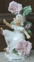 Vintage LEFTON FEBRUARY Ceramic Angel Figurine ... - $179.99