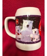 Vintage Coca Cola Santa Polar Bear Beer Mug Stein 1995 Winter Made In Th... - $9.41