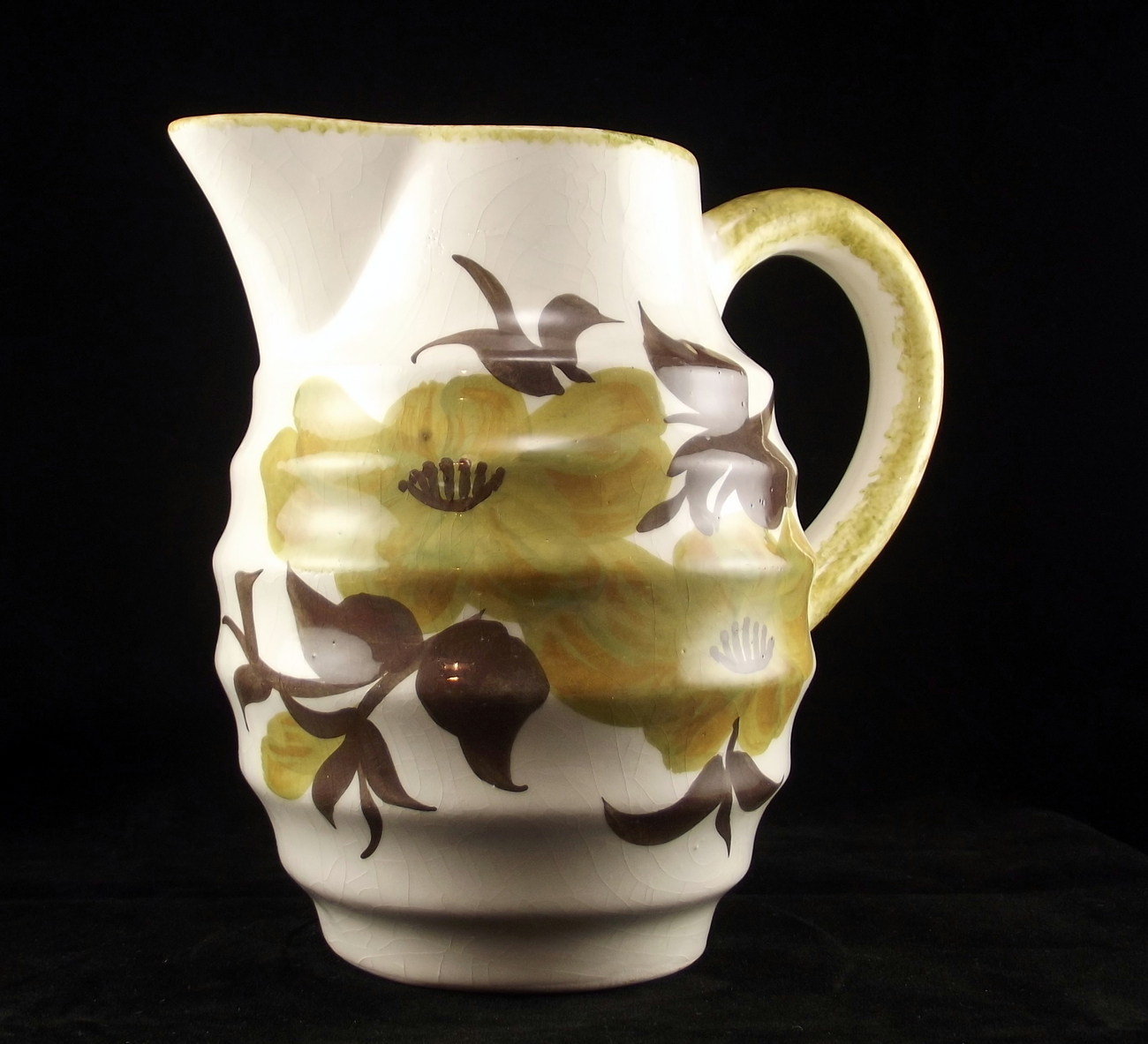 Vintage Cash Family art pottery barrel pitcher Abby shape design