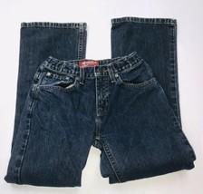 AriZona Jean Co Boys Denim Original Bootcut Jeans Adjustable Sz 12 Slim ... - $29.69