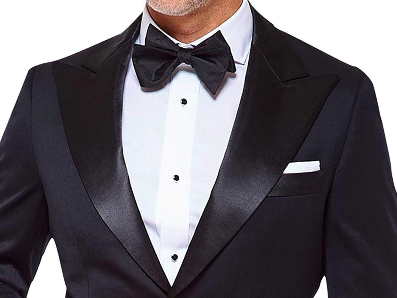 Mens slimfit 2 piece black premium tuxedo
