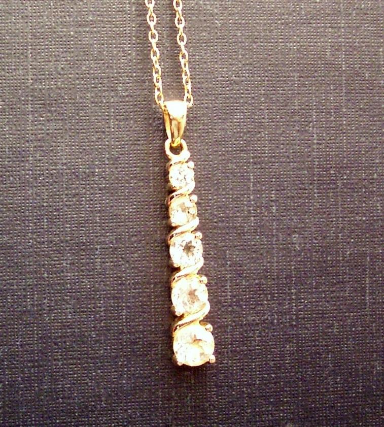 White Topaz Journey Necklace