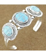 Native American Inlaid Turquoise Sterling Silve... - $267.77
