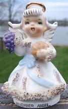 Vintage LEFTON Ceramic NOVEMBER ANGEL Figurine ... - $149.99