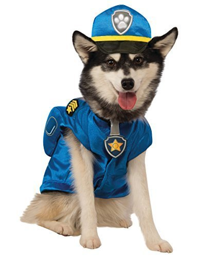 (small) - Official Rubie's Paw Patrol Chase Pet Dog Costume, Size: Small #gcf