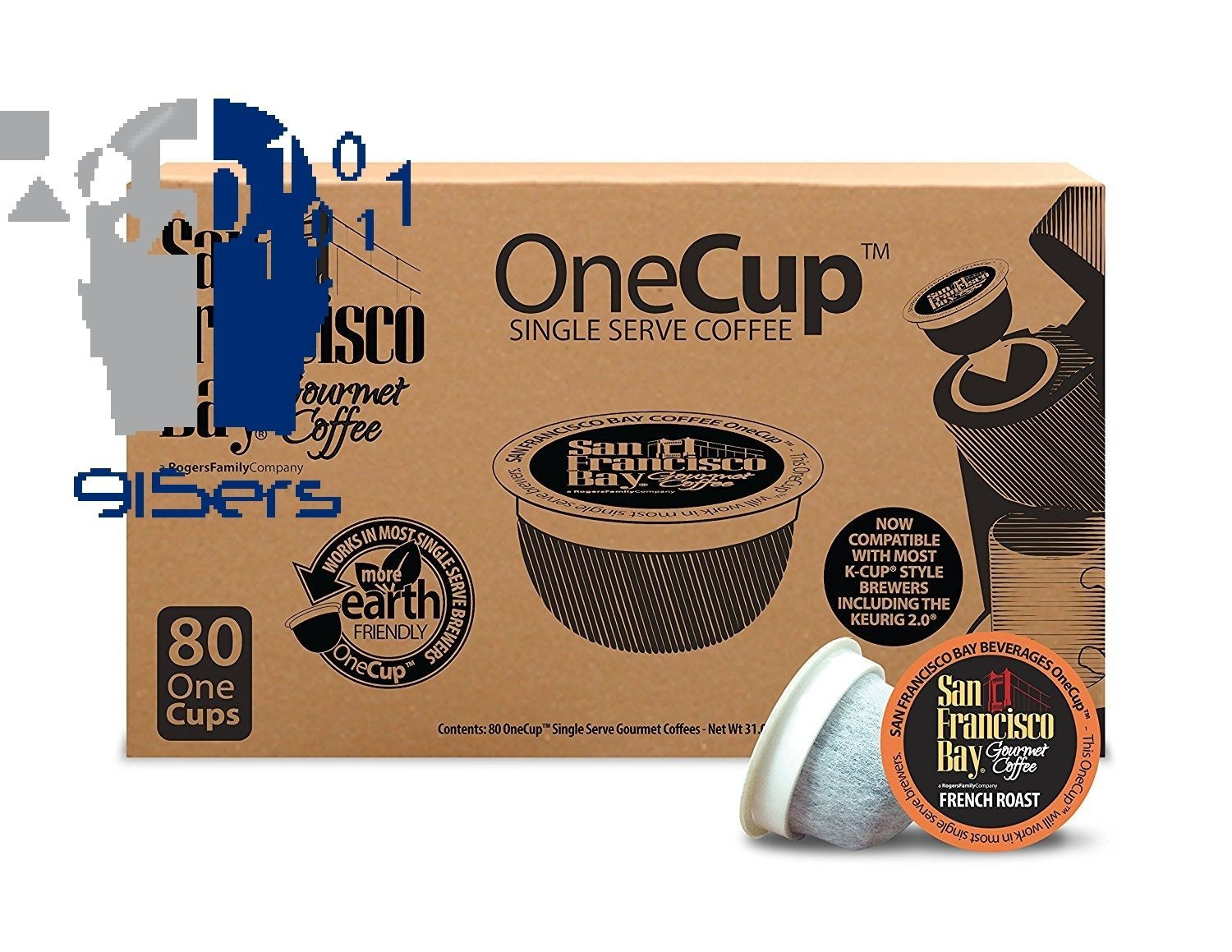 San Francisco Bay OneCup, French Roast, 80 Count- Single Serve Coffee, Compat...
