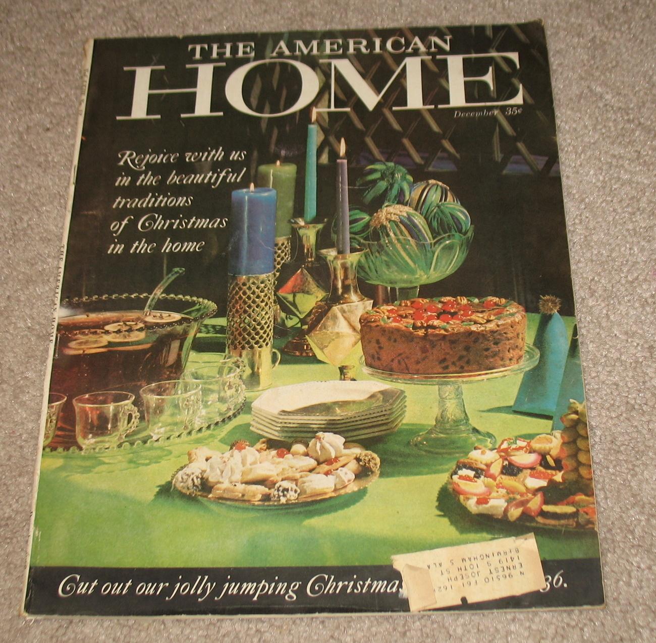 American Home Magazine Dec. 1960 Christmas American Home
