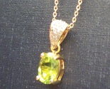 Peridot oval necklace 2 thumb155 crop