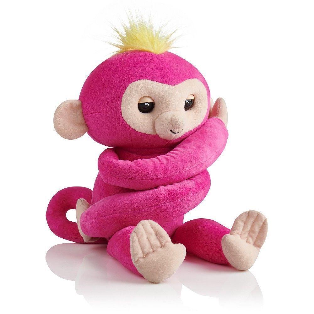 Fingerlings Hugs Bella Friendly Interactive Pink Plush Monkey New by WowWee