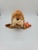Wild Republic Brown Walrus w Tusks Plush Stuffed Animal New With Tags - $17.99