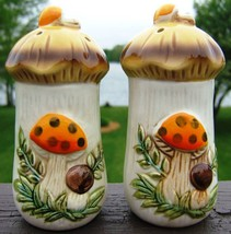 Vintage Sears Roebuck Mushroom Salt Pepper Shakers 1976 - $49.99