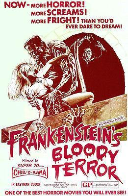 Primary image for Frankenstein's Bloody Terror - 1968 - Movie Poster