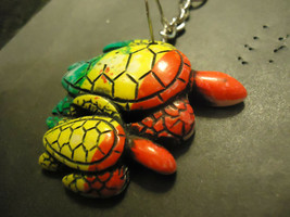 COLOR TURTLES KEYCHAIN   (14537)   >> C/S & H AVAILABLE  - $4.95