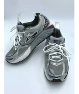 Brooks Womens 9 Addiction 10 th Edition Silver Gray Plum Running Shoes - $39.99