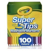 Crayola Super Tips Washable Markers - 100 Count ( Brand New ) Ships Today - $34.16