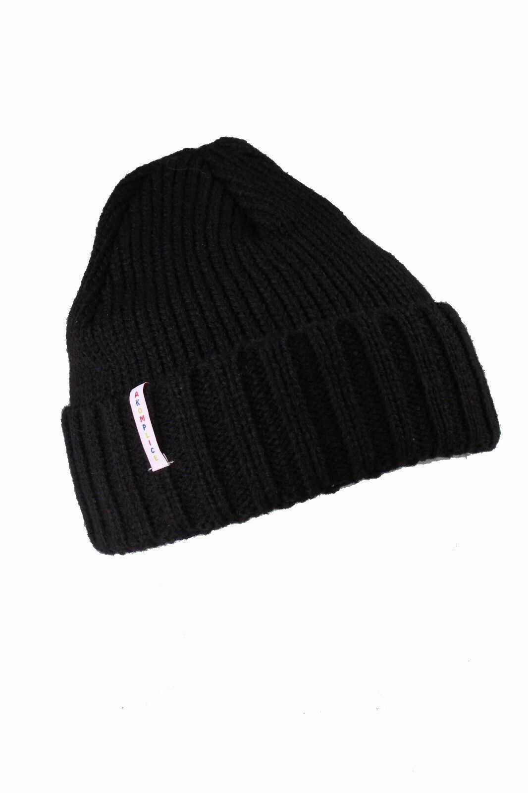 Akomplice Clothing Men's The Primary Beanie Hat BLK NWT