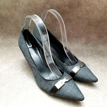 """Nine West Womens  1600-0714 Size 9 Gray Slip On Pointed Toe 3"""" Heels Pumps - $21.99"""