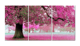 Framed Romantic Pink Tree Flowers Canvas Wall Art Modern Print Home Decor - $69.90+