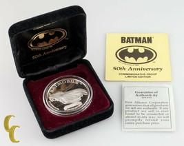 """Batman """" Batmobile """" Dc Comics le 50th Anniversaire 1 oz Argent Rond W /... - $99.00"""
