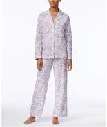 Charter Club Snow Flake Printed Fleece Pajama Set, XXXL - $28.70