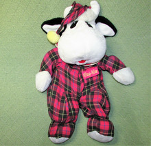 "Vintage Commonwealth STUFFED COW NITEY NITE Bedtime Plush 19"" Red Plaid ... - $23.38"