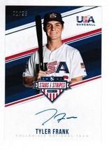 2018 Panini Stars & Stripes TF Tyler Frank Blue ink Auto 1/25 Tampa Bay Rays - $32.00
