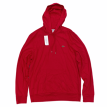 Lacoste Men's Hooded T-Shirt Red Long Sleeve Lightweight Hoodie - $54.99