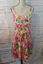American Living Lined Floral Dress Size 10 Pleated Pockets Retails 100.0... - $18.49