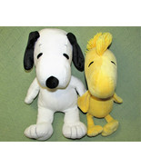 KOHLS SNOOPY and WOODSTOCK STUFFED PEANUTS GANG PLUSH ANIMALS YELLOW WHI... - $23.38