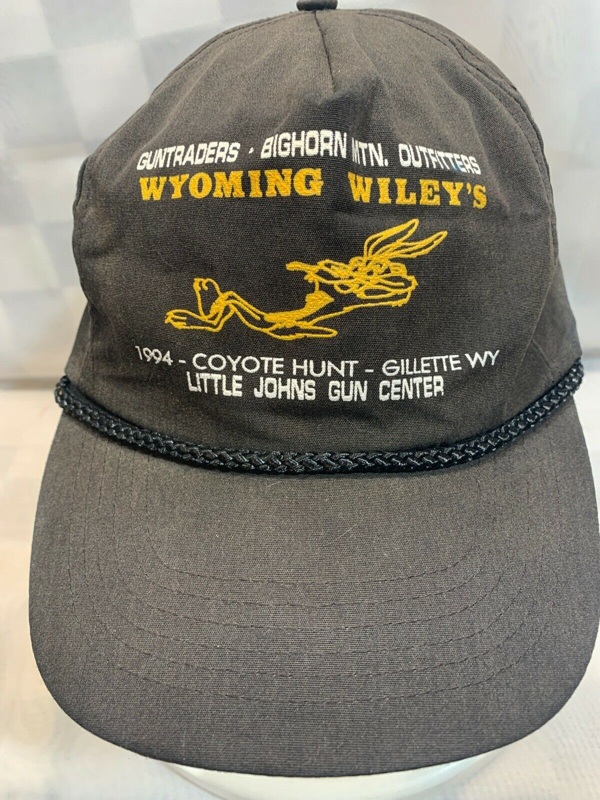 Primary image for WYOMING WILEY'S Coyote Hunt Little Johns Gun Center VTG Adjustable Adult Cap Hat