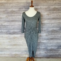 New THE VANITY ROOM sz S women's gray 3/4 sleeves knot front dress $120 ... - €27,32 EUR