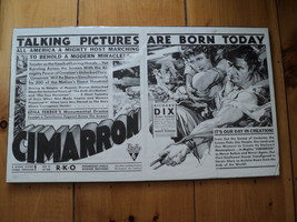 Cimarron movie poster 1931 Original - $49.50
