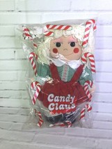 VINTAGE Avon Candy Claus Christmas Stuffed Rag Doll Girl Reversible Clot... - $35.52