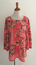 JM Collection Floral Print Blouse Size 16 - $22.76