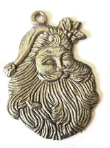 Santa Claus Christmas Fine Pewter Ornament - Approx. 1 3/4 Inches Tall  (T193) image 2