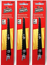 """Vermont American 30130 6"""" x 6 TPI HCS Reciprocating Saw Blade (3 Packs) - $5.20"""