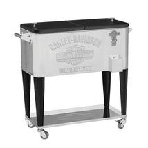 Harley-Davidson Bar & Shield Stainless Steel Rolling Cooler BBQ Tailgati... - $390.92