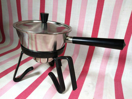 FAB Mid Century Spring INOX Stainless Butter or Sauce Warmer + Stand Swi... - $24.00