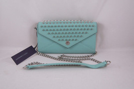 Rebecca Minkoff Wallet on a Chain with Studs Minty with Silver Hardware NEW - $186.22