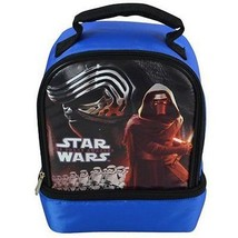 Disney Star Wars Lunch Bag Dome Shaped w/Drop Bottom 2 Compartment STARD... - $8.49
