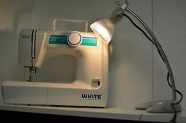 White Jeans Sewing Machine Heavy Duty Die Cast Frame Sews 21 Stitch func... - $157.41